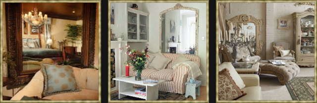 Eye For Design: Decorating With Vintage and Antique Mirrors