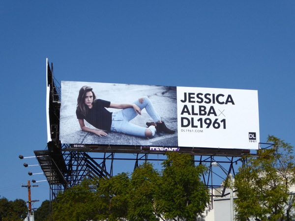 Jessica Alba DL1961 jeans billboard
