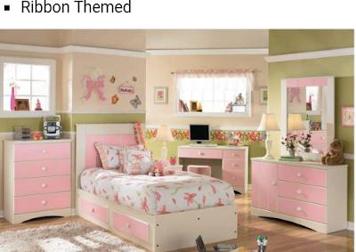 tempat tidur pink lucu untuk anak perempuan