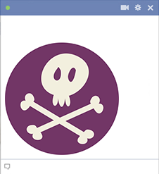 Skull and Bones Emoticon for Facebook