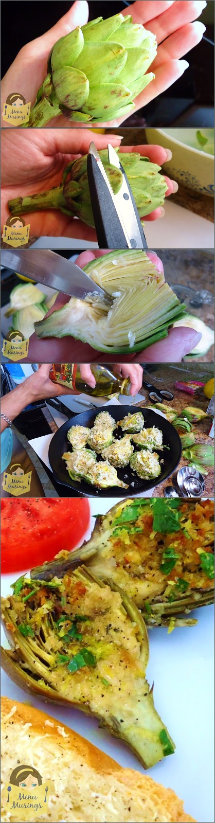 http://menumusings.blogspot.com/2011/06/stuffed-baby-artichokes-with-lemon.html