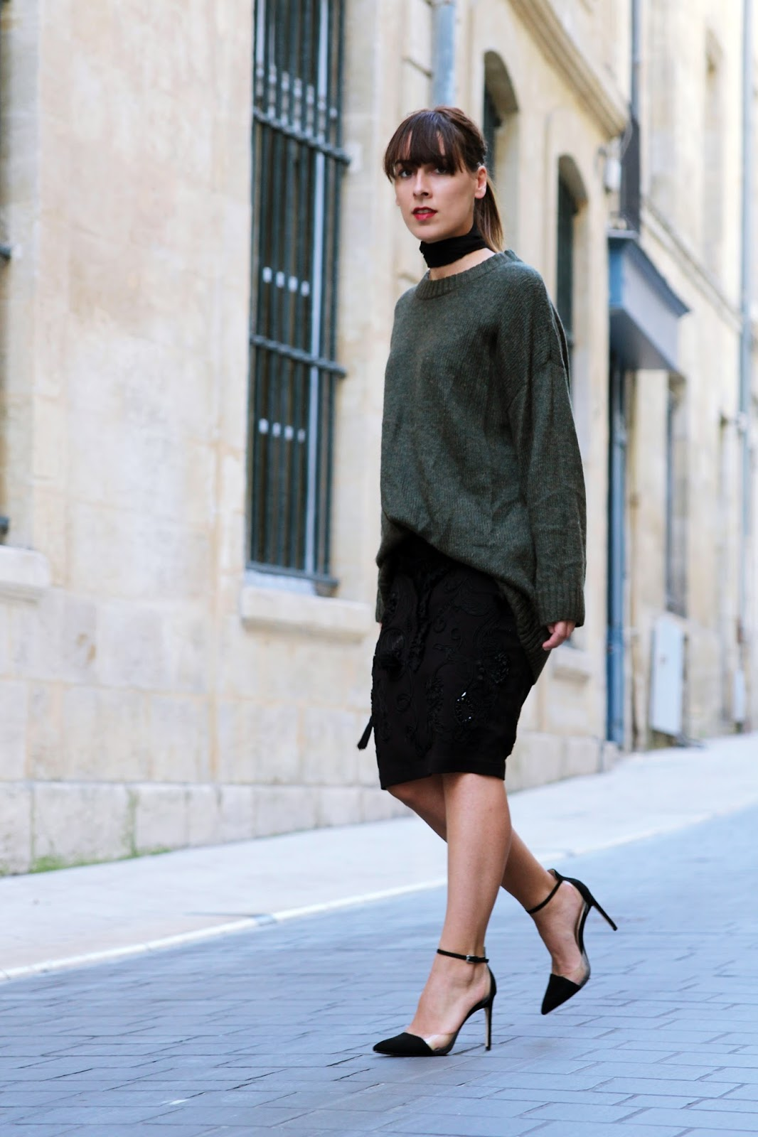 Le pull oversize ...