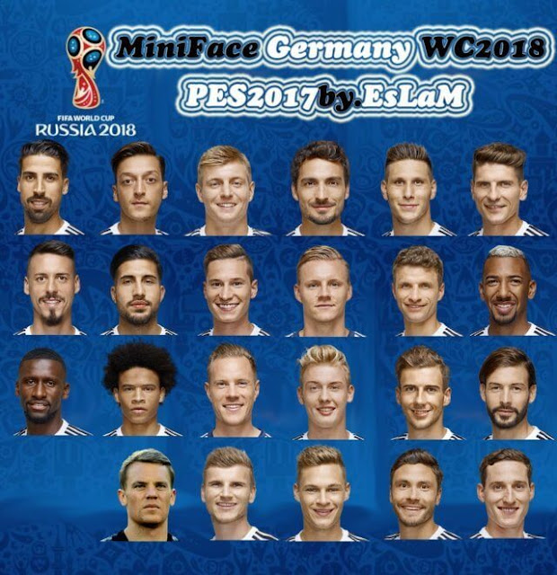 Germany World Cup 2018 MiniFace PES 2017