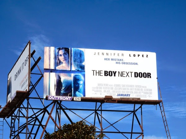 Boy Next Door movie billboard