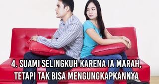Suami selingkuh karena Ia marah, tetapi tak bisa mengungkapkannya