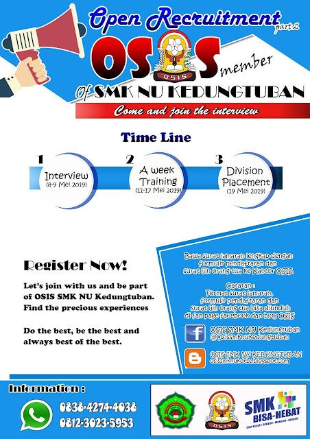 Terbaik Dari Contoh Poster Open Recruitment Osis Koleksi Poster