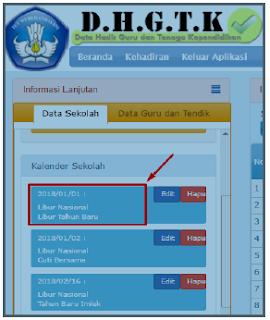 Aplikasi Absen online Guru DHGTK