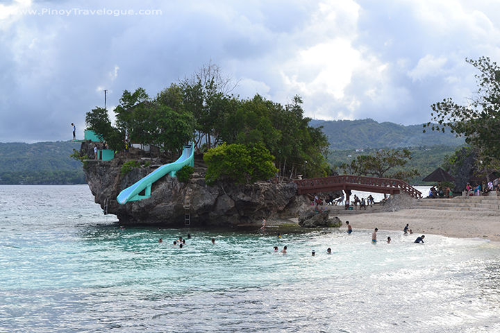 Huge coral rock formation of Salagdoong Beach