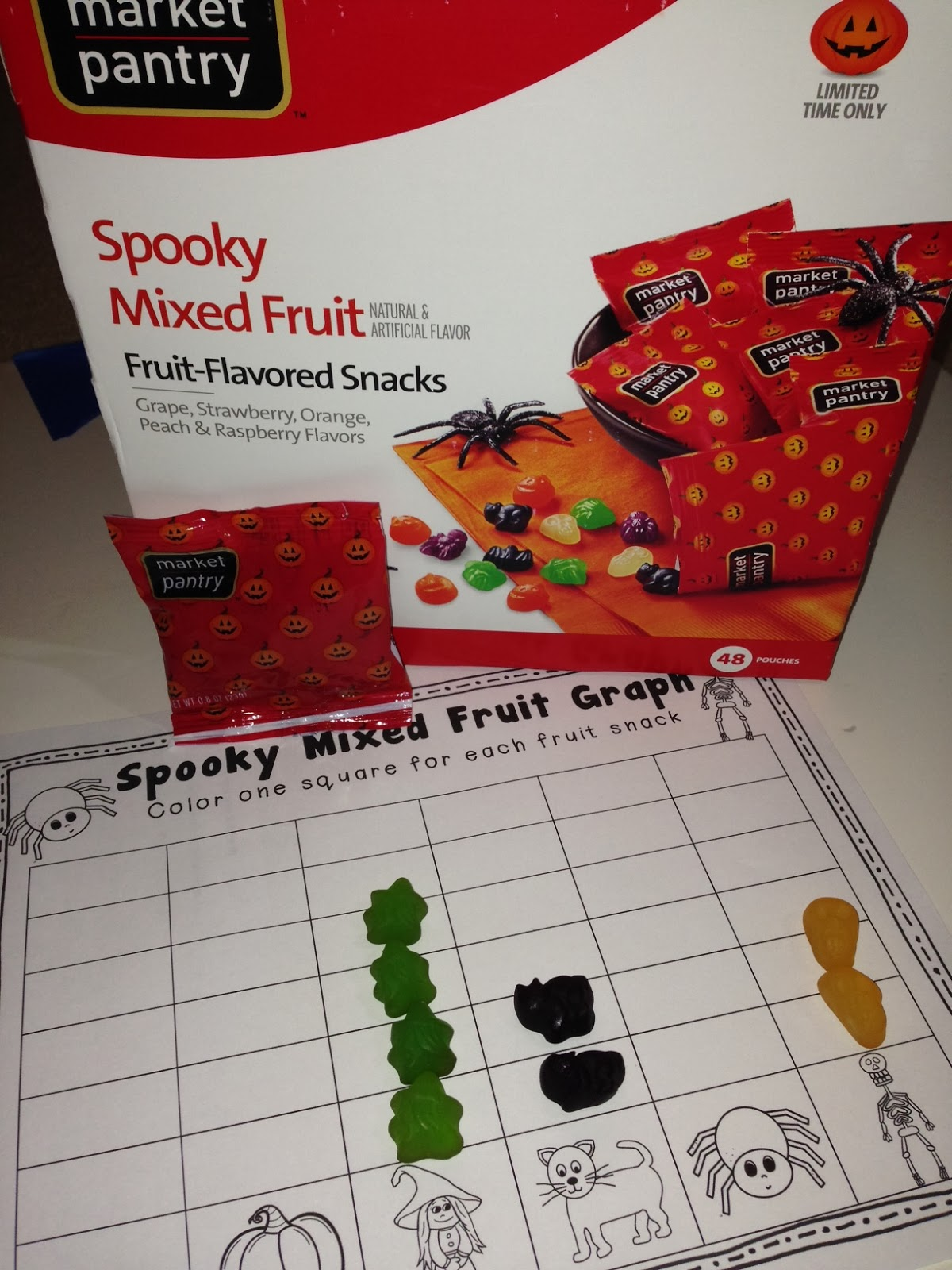 Halloween Freebie Spooky Fruit Graph