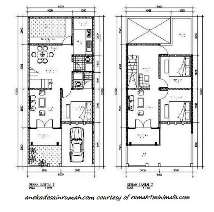 gambar denah rumah lantai 2 minimalis 1
