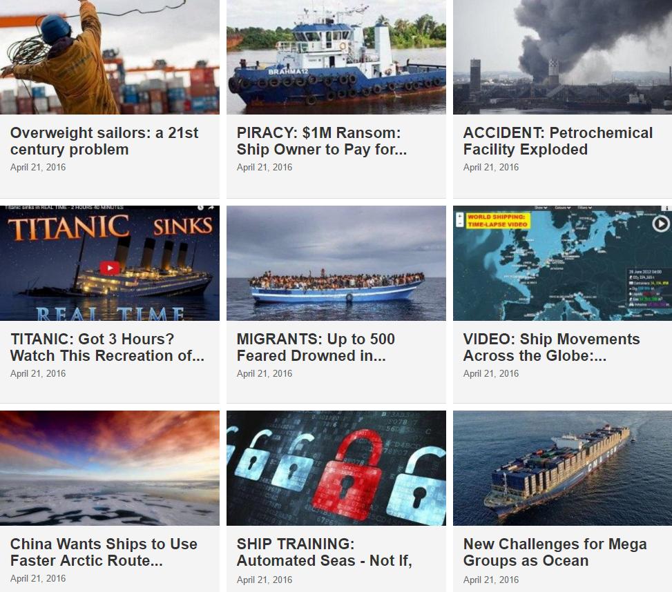 Maritime News 21 April 2016