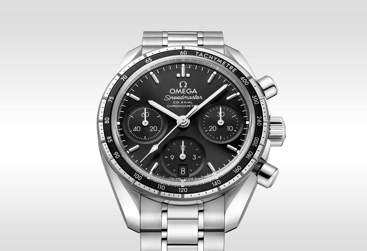 Omega Speedmaster 38 Co Axial Chronograph Black Time