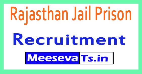 Rajasthan Jail Prison Recruitment