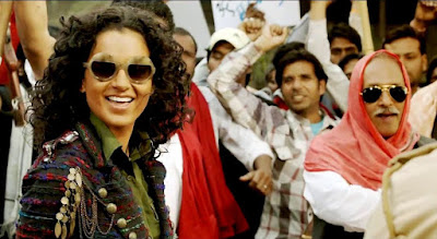 Kangana Ranaut as Alka Singh, Piyush Mishra (right) as Alka Singh's uncle Bali in Revolver Rani, Directed by Sai Kabir