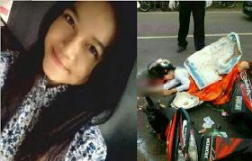 Gambar Gadis 18 Tahun Maut Di Langgar Lori, Pemandu Hilangkan Diri