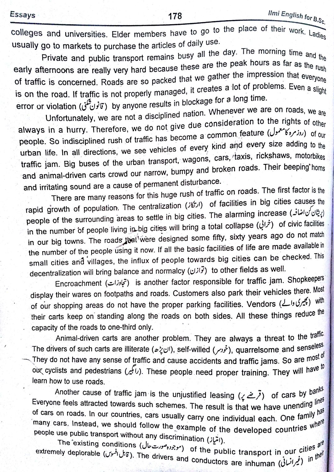 essay on traffic problems of a large city
