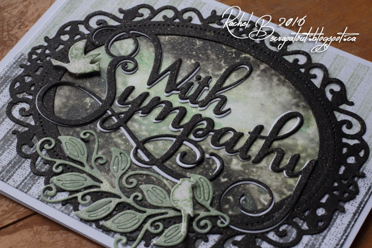 Scrapatout - Handmade card, Impression Obsession, Sympathy, Leaves, Birds, Cover-A-Card