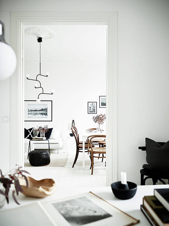 Scandinavian apartment via Stadshem