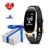 LEMFO Fitness Tracker Heart Rate Monitor Women Activity Sleep Monitor Waterproof Swimming Smart Bracelet Smartband (Black)