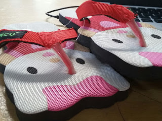 sandal lucu, Sandal Sancu Happy Cat Merah