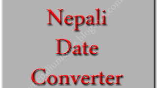 Nepali Date Converter - BS to AD - AD to BS