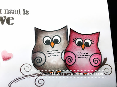 AJVD, Kecia Waters, owl, Valentine, multimedia coloring