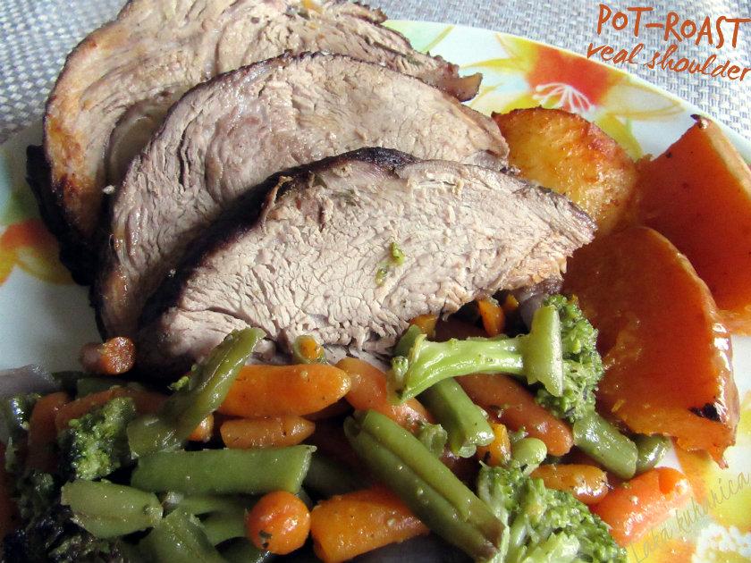 Pot - roast veal shoulder by Laka kuharica: slow-cooked, meltingly tender veal roast.