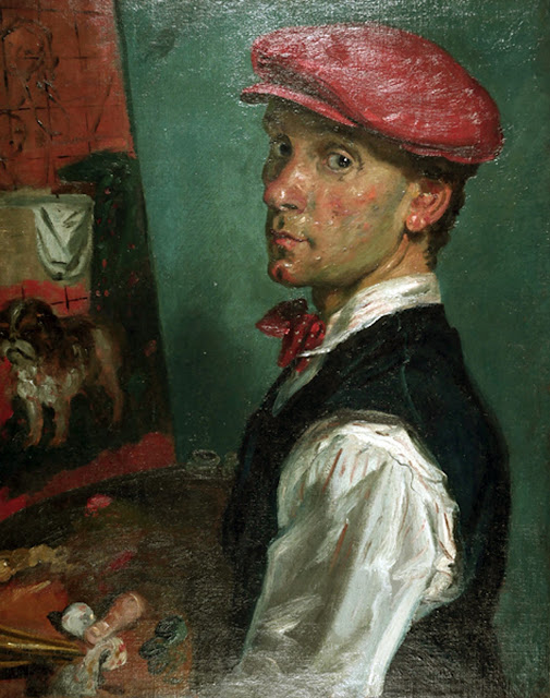 Paul James Logan Wyeth, Self Portrait, Portraits of Painters, Paul James Logan, Fine arts, Portraits of painters blog, Paintings of Paul James Logan, Painter Paul James Logan