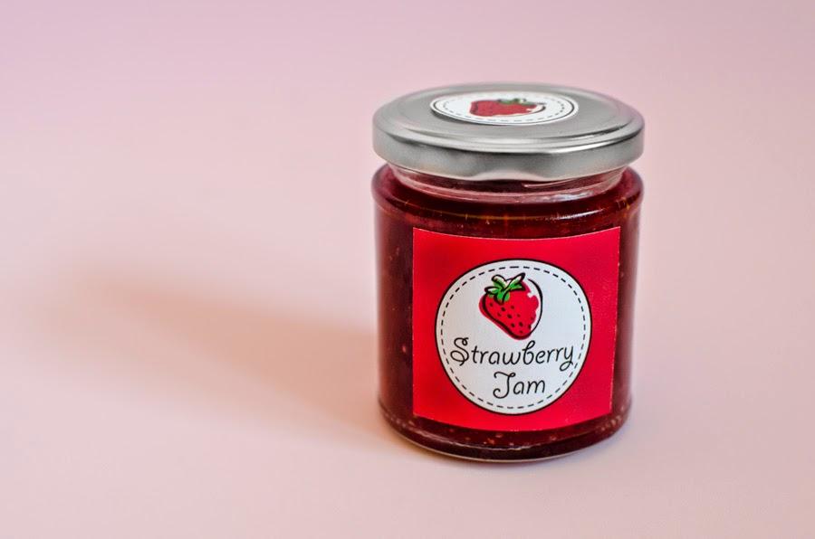 mermelada casera con etiqueta personalizada