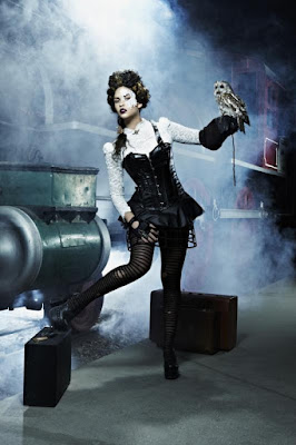Steampunk women's skirts with hoops or cage petticoats are derivative of victorian era cage crinoline hoop petticoats