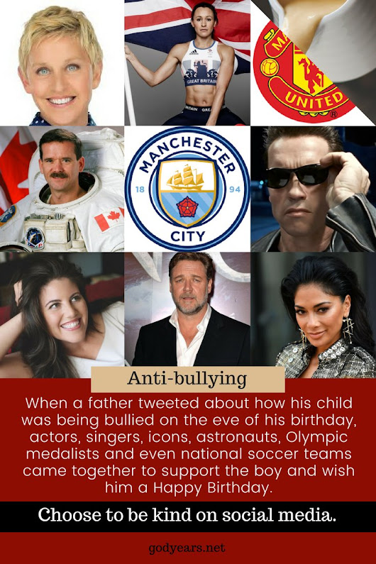 Godyears: When Celebrities Came Together to wish a Bullied Child #WATWB