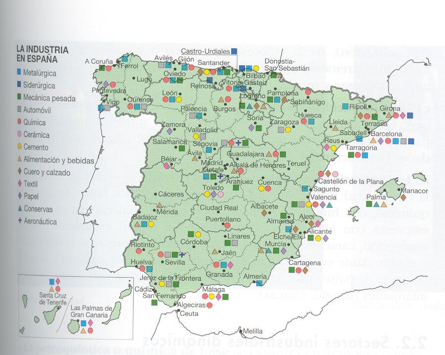 Tus ciencias sociales 471 la industria espa ola sectores - Empresas de construccion madrid ...