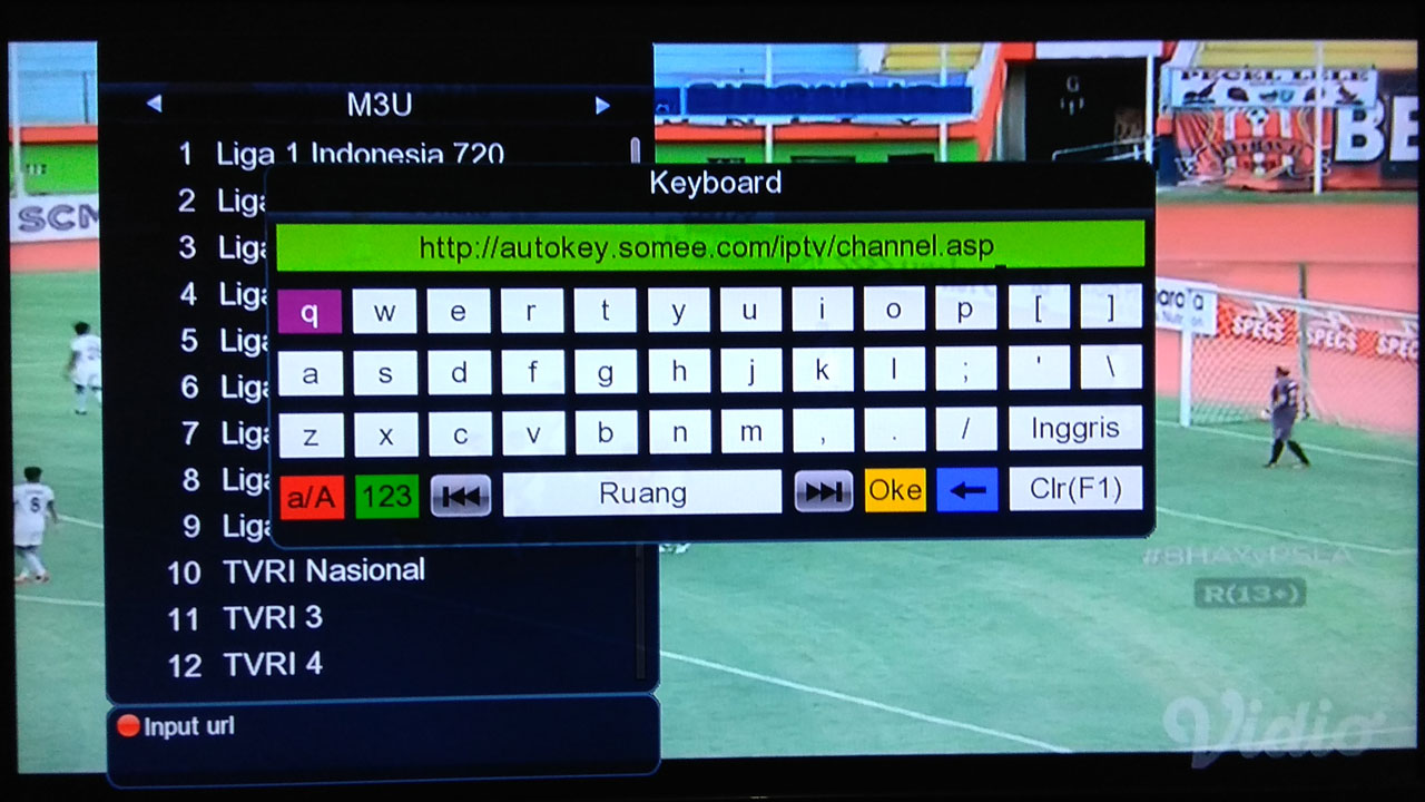 Cara Streaming M3U Player IPTV Software Vision B420 HD