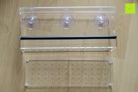 Lieferumfang: PEDY Großer Fenster Vogelfutterspender, Transparenter Saugfuß Durchsichtiger Vogelhaus Fenster Vogelfutterspender Großer Acryl Vogelfutterspender Vogelfutterstation