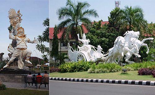 Kabupaten Gianyar - Bali, Indonesia - Pariwisata Gianyar dan Objek Wisata - Patung Taman Kota Ciung Wanara