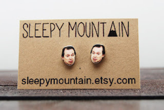 steve buscemi earrings from sleepy mountain etsy