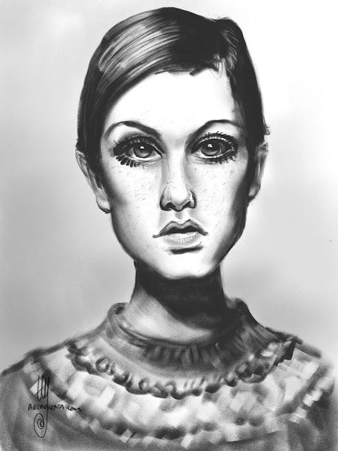 Portrat Sketch by Ulf Artmagenta