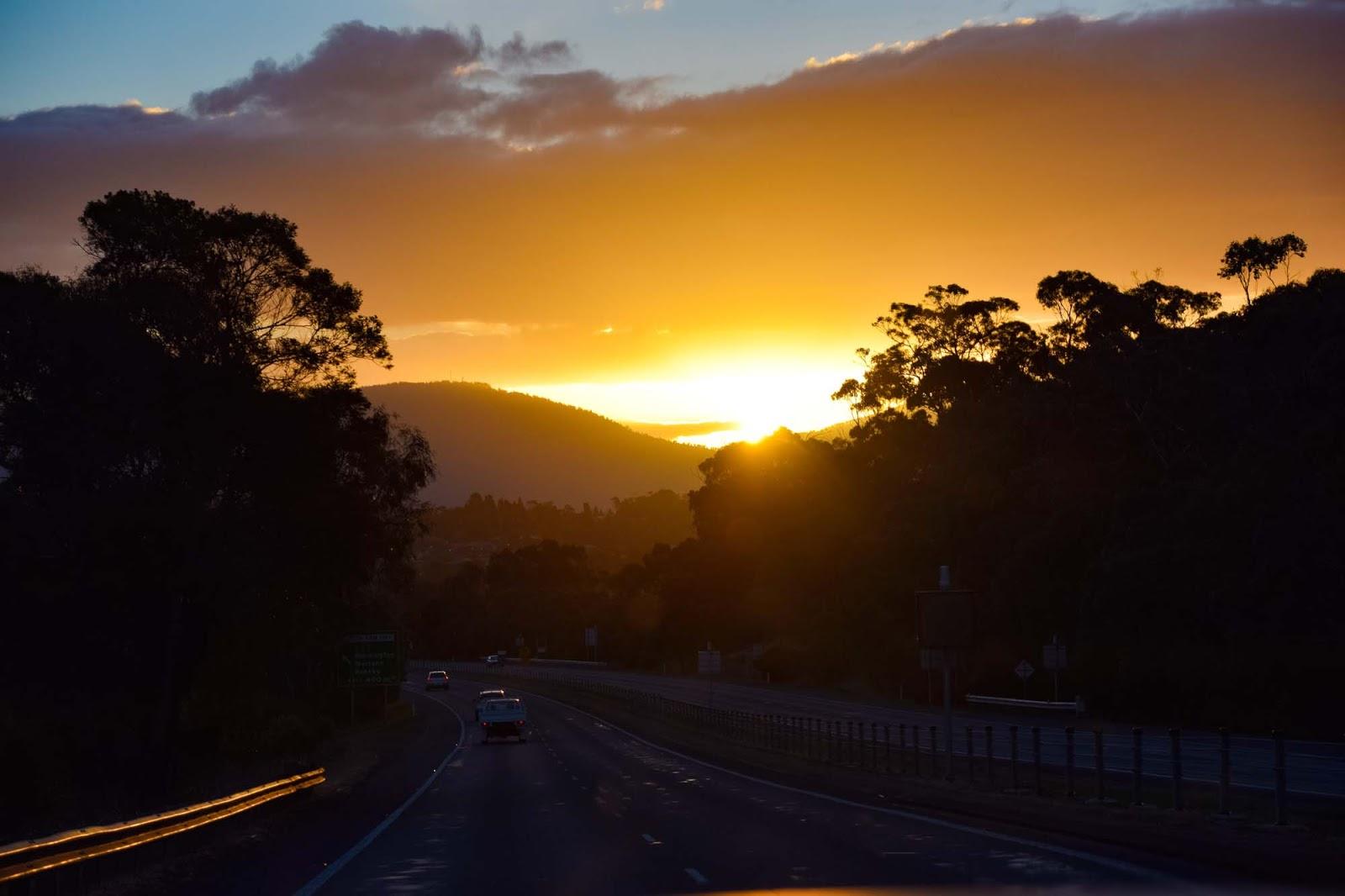 sunset in hobart