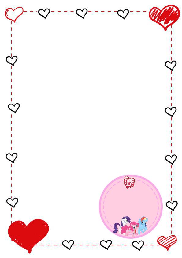 caratulas para cuadernos para niños y niñas de primaria de corazon con pony