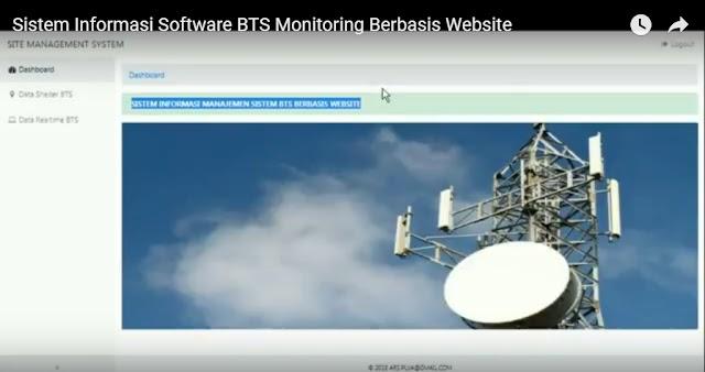 Sistem Informasi Software Riset Monitoring BTS Berbasis Website