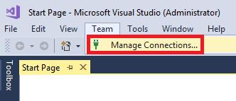 Infallible Techie: Team Explorer in Microsoft Visual Studio 2017