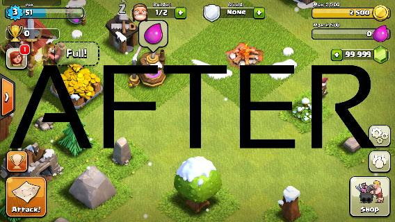 coc hack proof before and after pictures