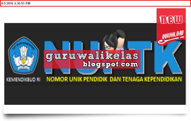Download Aplikasi Cetak NUPTK Dan NRG Gratis New Update ...
