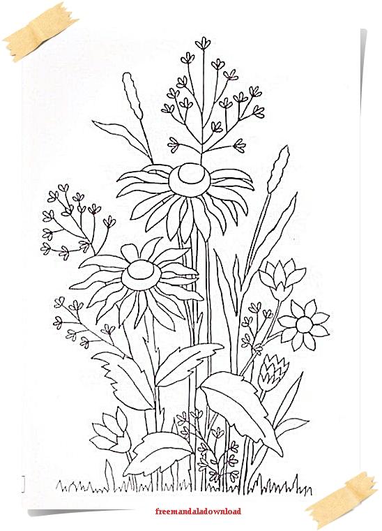 malvorlagen für erwachsene blumen und pflanzen flowers