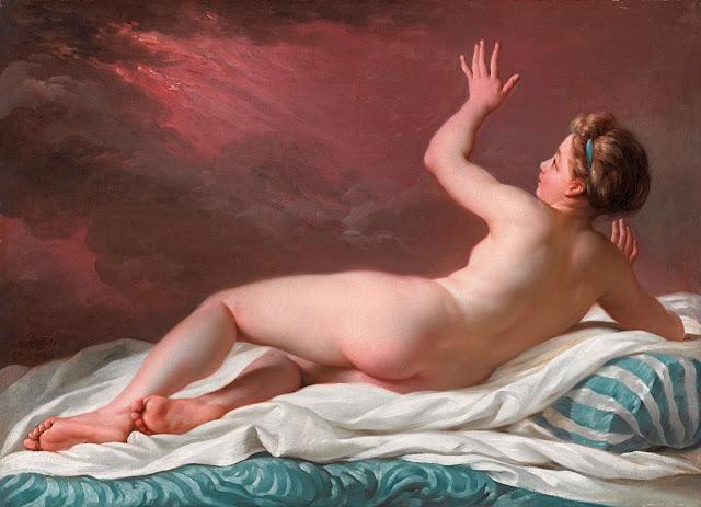 JOLLAIN - Danae - nudo femminile - dipinto