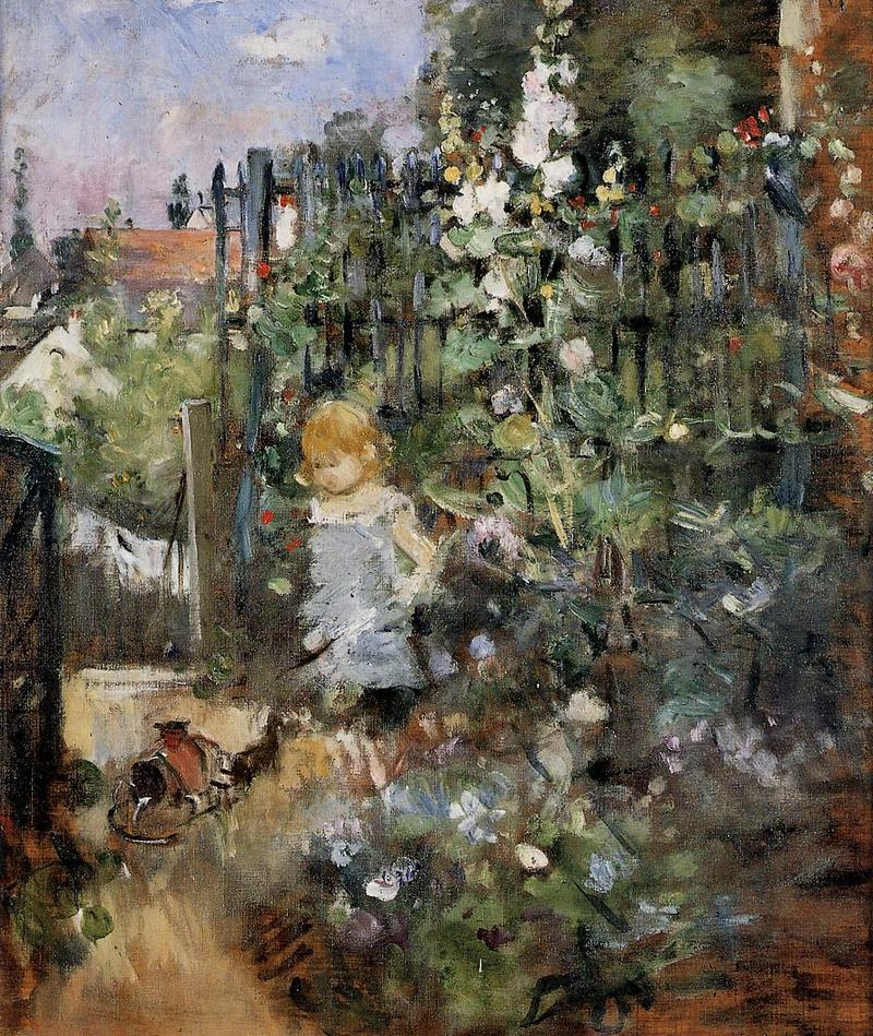 Child In The Rose Garden. Berthe Morisot, 1881