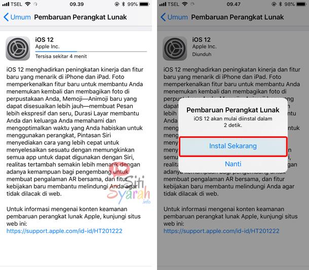 cara update iphone tanpa pc