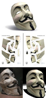 manualidades Máscara de Vendetta en 3D