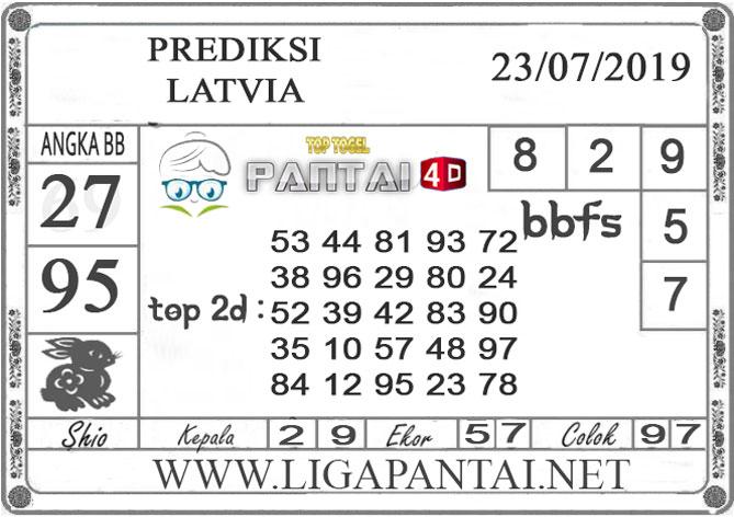 """PREDIKSI TOGEL """"LATVIA"""" PANTAI4D 23 JULI 2019"""