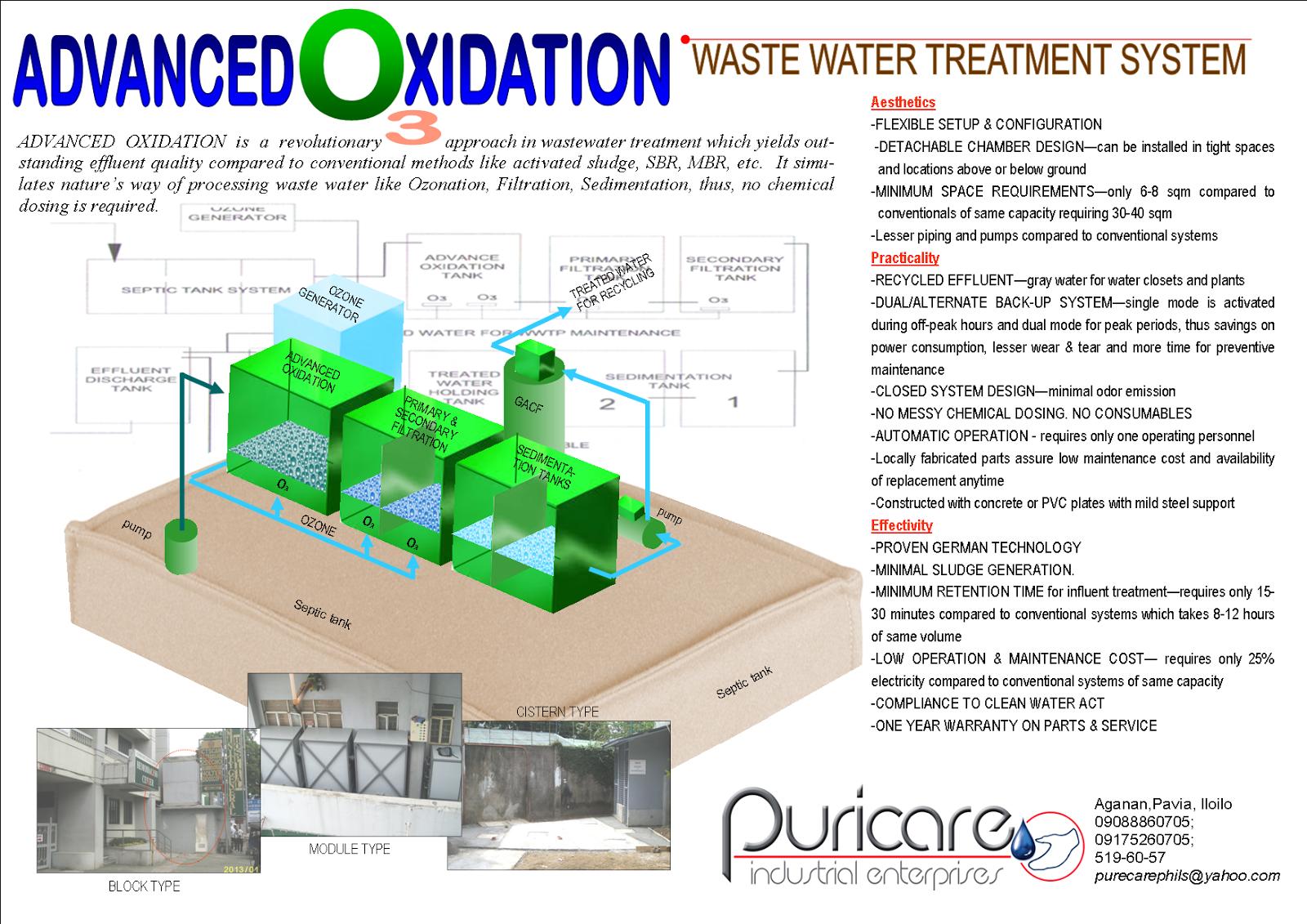 Puricare Industrial Enterprises Advanced Oxidation Waste